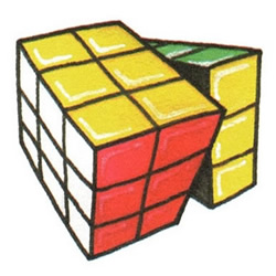 How to Draw a Rubik's Cube Step by Step for Kids