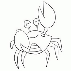 How to Draw a Cute Happy Crab Step by Step for Beginners