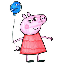 How to Draw Cute Peppa Pig Step by Step for Kids