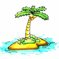 How to Draw a Coconut Tree on an Island Step by Step for Kids