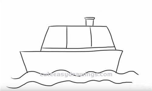 How to Draw a Simple Ship Step by Step for Kids