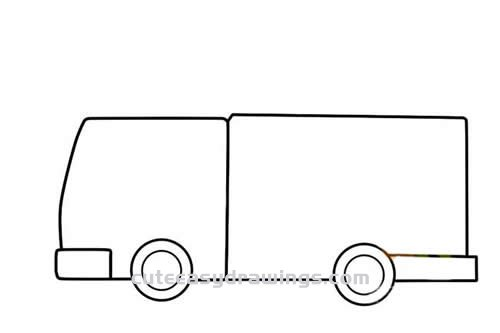 How to Draw a Fire Truck with a Ladder Step by Step for Kids