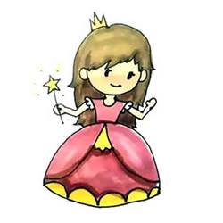 How to Draw a Magic Princess Step by Step for Kids