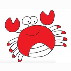 How to Draw a Happy Crab Step by Step for Kids