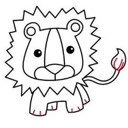 How to Draw a Mighty Lion Step by Step for Kids