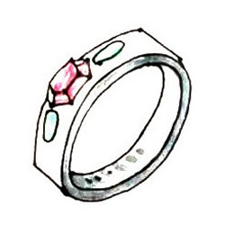 How to Draw a Gemstone Ring Step by Step for Kids