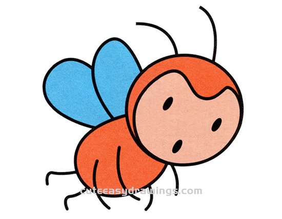How to Draw a Colorful Bee Step by Step for Kids