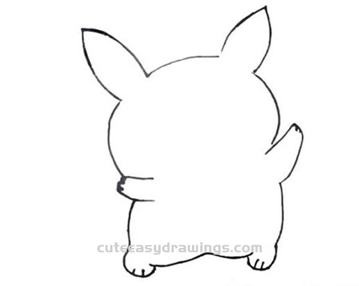 How to Draw a Chubby Pikachu Step by Step for Kids
