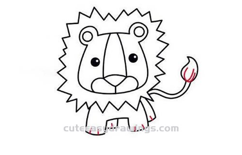 How To Draw A Mighty Lion Step By Step For Kids Cute Easy Drawings Download lion outline stock vectors. how to draw a mighty lion step by step