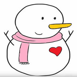 How to Draw a Cute Snowman Step by Step for Kids