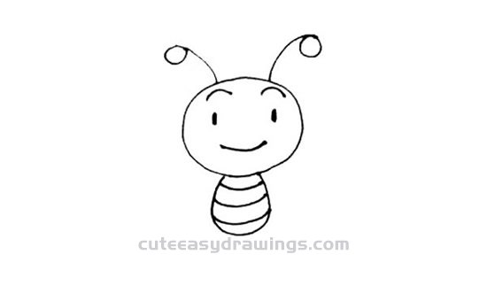 How to Draw a Cute Cartoon Bee Step by Step for Kids