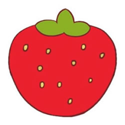 How to Draw a Cute Strawberry Step by Step for Kids