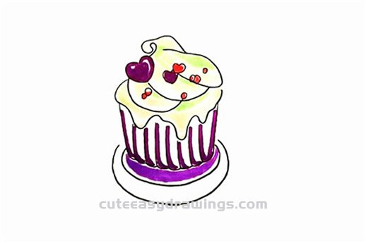 How to Draw a Delicious Cupcake Step by Step for Kids