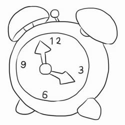 How to Draw a Alarm Clock Step by Step for Kids