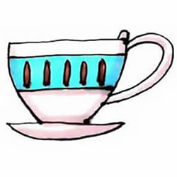 How to Draw a Exquisite Teacup Step by Step for Kids