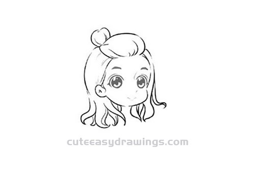 How to Draw a Cute Cartoon Girl Step by Step for Kids