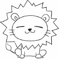 How to Draw a Little Lion Sitting Step by Step for Kids