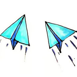 How to Draw an Origami Plane Step by Step for Kids