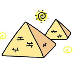 How to Draw an Egyptian Pyramid Step by Step for Kids
