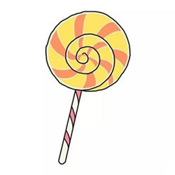 How to Draw a Cute Lollipop Step by Step for Kids