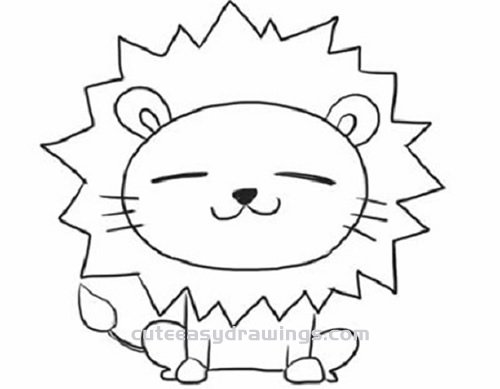 How To Draw A Little Lion Sitting Step By Step For Kids Cute Easy Drawings 70+ animal colouring pages free download & print! how to draw a little lion sitting step