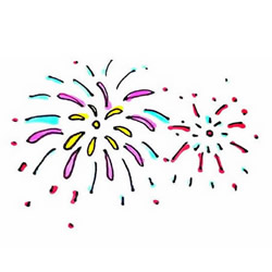 How to Draw Beautiful Fireworks Step by Step for Kids
