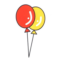 How to Draw Colorful Balloons Step by Step for Kids