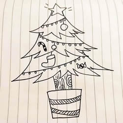 How to Draw a Decorated Christmas Tree Step by Step for Kids