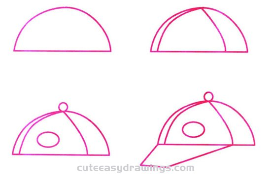 How to Draw a Sports Cap Step by Step for Kids
