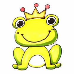 How to Draw a Colored Frog Prince Step by Step for Kids