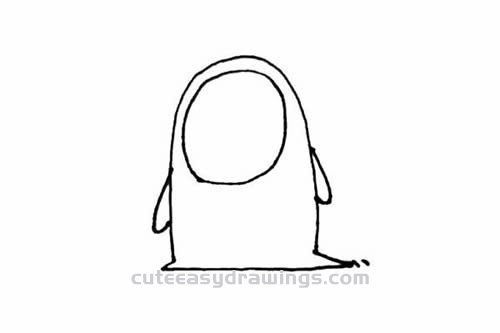 How to Draw a No Face Man Step by Step for Kids