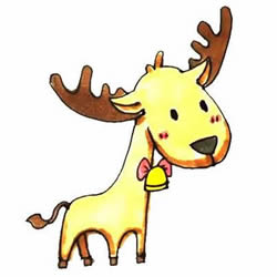 How to Draw a Cartoon Reindeer Step by Step for Kids
