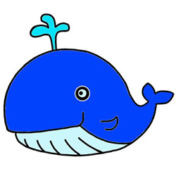 How to Draw a Blue Whale Step by Step for Kids