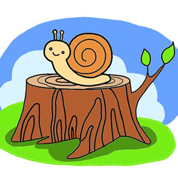How to Draw a Brave Snail Step by Step for Kids
