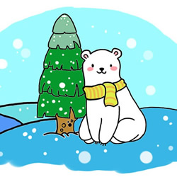 How to Draw a Christmas Polar Bear Step by Step for Kids