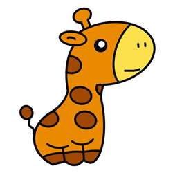 How to Draw a Giraffe Like a Doll Step by Step for Kids