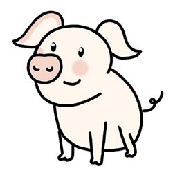 How to Draw a Pink Piglet Step by Step for Kids