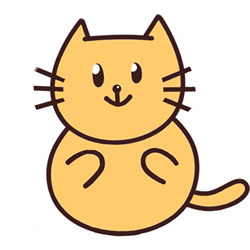 How to Draw a Cute Yellow Cat Step by Step for Kids