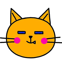How to Draw a Funny Cat Head Avatar Step by Step for Kids