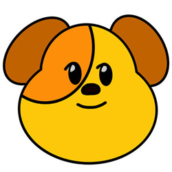 How to Draw a Dog Head Avatar Step by Step for Kids