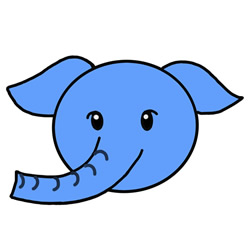 How to Draw an Elephant Head Avatar Step by Step for Kids
