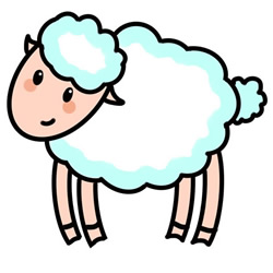 How to Simple Draw a Cartoon Sheep Step by Step for Kids