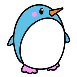 How to Simple Draw a Cartoon Penguin Step by Step for Kids