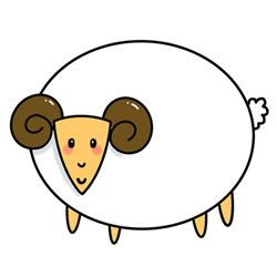 How to Draw a Funny Cartoon Sheep Step by Step for Kids