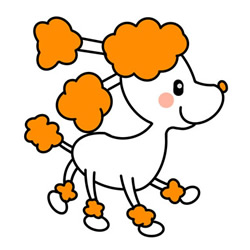 How to Simple Draw a Beautiful Poodle Step by Step for Kids