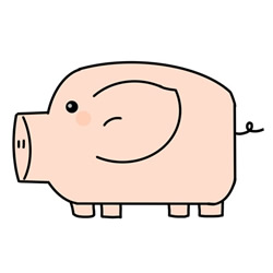 How to Draw a Pig Like a Piggy Bank Step by Step for Kids