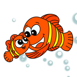 How to Draw Cartoon Clownfish Step by Step for Kids