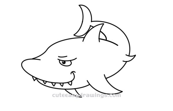 How to Simply Draw a Shark Step by Step for Kids