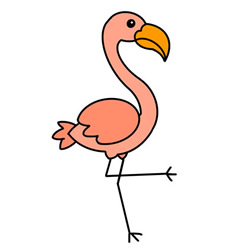 How to Draw a Flamingo Step by Step Easy for Kids