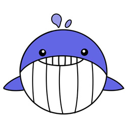 How to Draw a Cartoon Whale Easy Step by Step for Kids